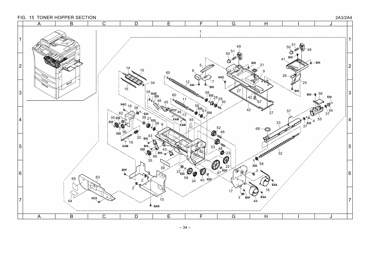 KYOCERA Copier KM-4230 5230 Parts Manual